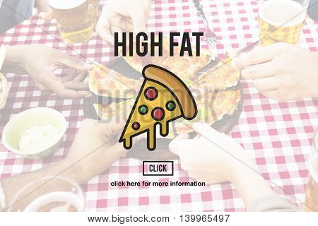 PIzza Slice Junkfood Obesity Calories Concept