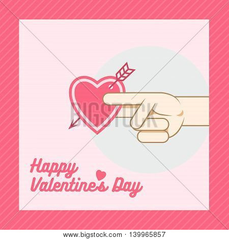 It depicted a hand holding out a valentine .
