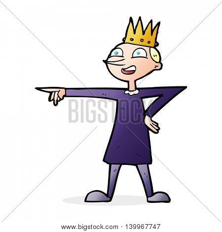 cartoon pointing prince
