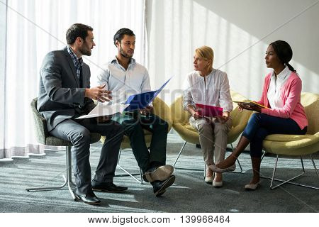 Business people during a meeting in the office