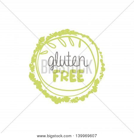 Gluten Free Food Product Logo Design. Cool Flat Vector Design Template On White Background