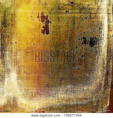 Old style design, textured grunge background with different color patterns: yellow (beige); brown; gray; red (orange); white
