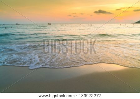 Abstract blur Sunset over the Sea