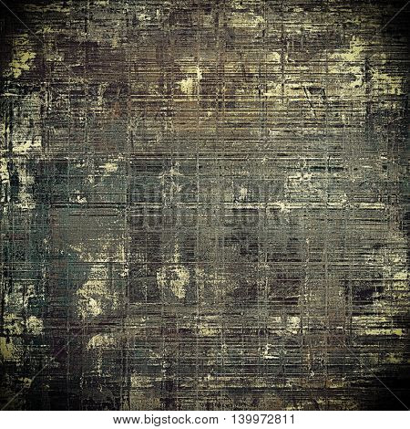 Vintage and retro design elements on faded grunge background. With different color patterns: yellow (beige); brown; gray; black; white