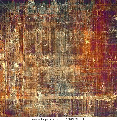 Retro style grunge background, mottled vintage texture. With different color patterns: yellow (beige); brown; gray; red (orange); purple (violet); cyan