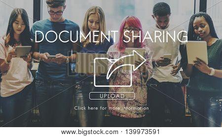Data Transfer Exchange Sharing Sync Upload Concept