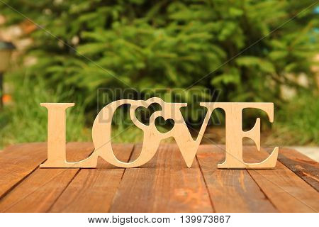 the word love and a heart with roses on Valentine's Day
