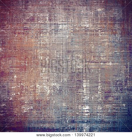 Grunge texture, scratched surface or vintage background. With different color patterns: brown; gray; blue; red (orange); purple (violet); pink