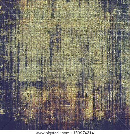 Grunge retro texture, aged background with vintage style elements and different color patterns: yellow (beige); brown; gray; black; purple (violet)