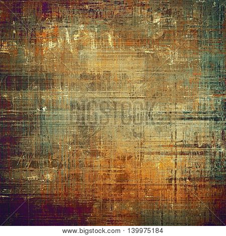 Grunge texture, scratched surface or vintage background. With different color patterns: yellow (beige); brown; gray; green; red (orange); purple (violet)