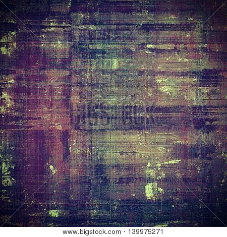 Old school background or texture with vintage style grunge elements and different color patterns: brown; gray; black; blue; purple (violet); pink