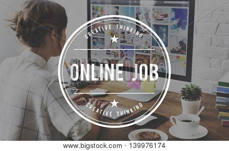 Online Job Employment Hiring Occupation Recruit Concept