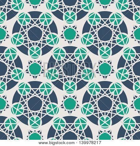 Seamless texture with arabic geometric ornament. Vector pattern