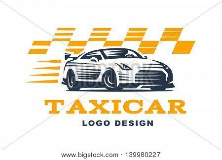 Modern vector taxi cab logo. Logo for taxi company.