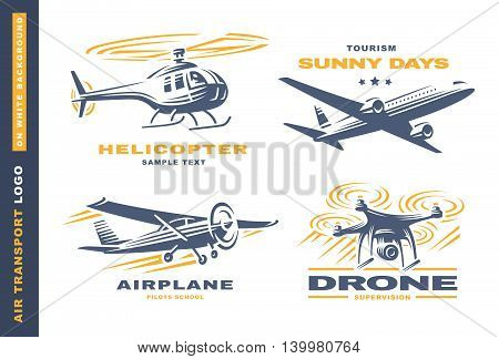 Air transport Logo illustration on a white background