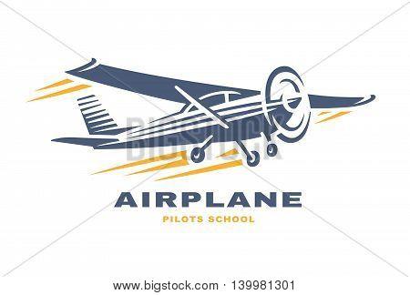 Airplane Club Vector illustration Logo on white background