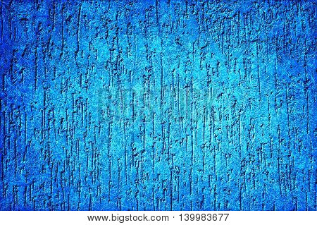 Cyan Plaster Wall In Form Of Raindrops Vignetting Texture Scratched Styled