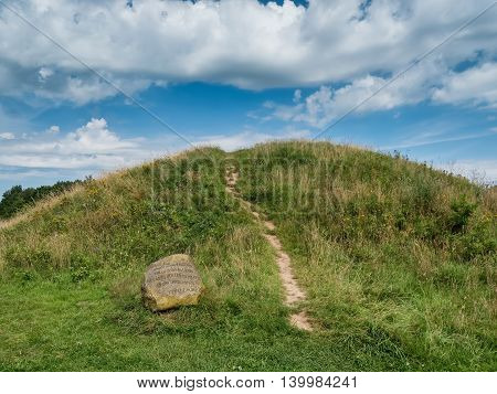 Bronze age Burial mound of the Danish Egtved girl