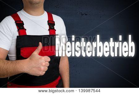 Meisterbetrieb (in German Master Enterprise) Is Shown By Craftsman