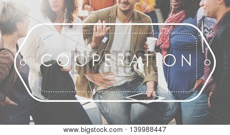 Corporate Cooperation Collaboration Connection Teamwork Concept