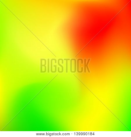 Abstract blur gradient background with trend red, yellow and green colors for deign concepts, web, presentations and prints. Vector illustration.
