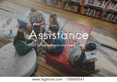 Assistance Coaching Collaboration Support Help Concept
