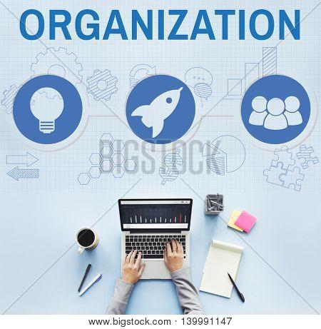 Organization Solution Start Business Vision Concept