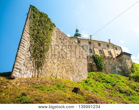 Frydlant v Cechach - Gothic castle and Renaissance chateau with massive fortification in northern Bohemia, Czech Republic
