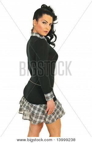 Model Woman Looking Over Shoulder