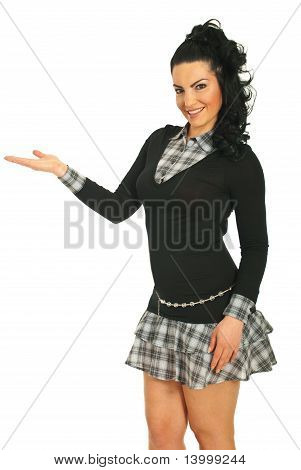 Attractive Woman Make Presentation
