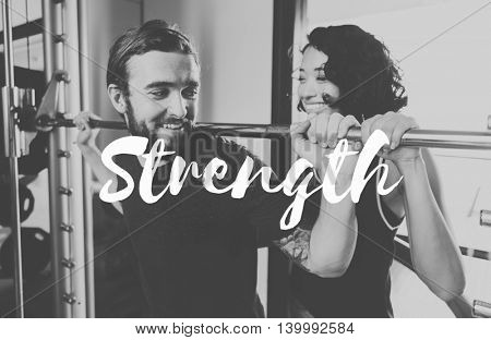 Strength Powerful Empowerment Performance Fitness Concept