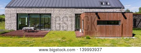 Example Of Modern Stone House