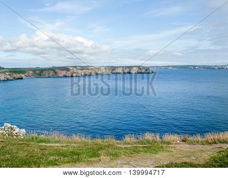 coastal scenery at the Crozon peninsula in Brittany France