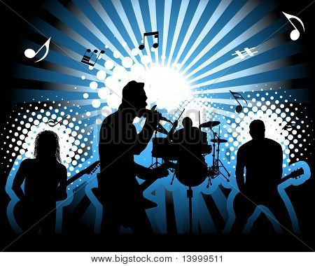 Rock group. Vector illustration for design use.