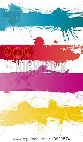 Abstract grunge vector backgrounds set for design use.