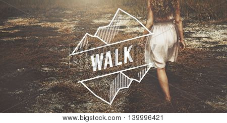 Walk Walking Exercise Roaming Hiking Trek Concept