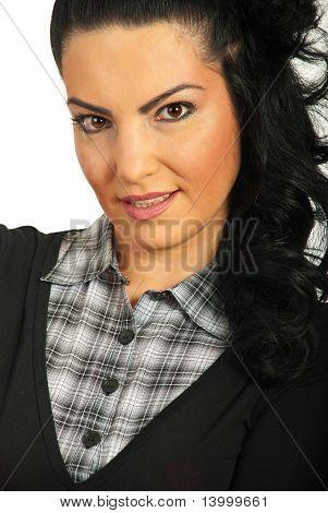 Close Up Of Beautiful Woman Face