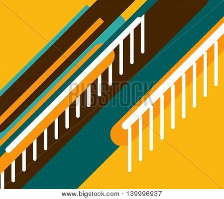 vector abstract background of diagonal stripes in a retro style