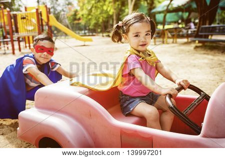 Play Pretend Car Sibling Playground Concept