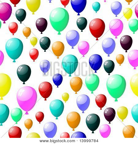 Beautiful seamless balloons pattern. Vector illustration. For easy making seamless pattern just drag all group into swatches bar, and use it for filling any contours.