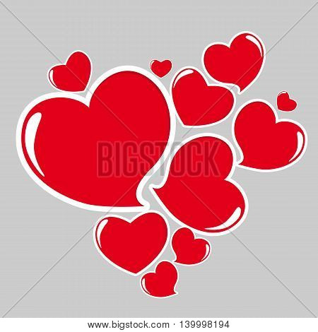 Heart Form Sticker on Light Vector Illustration EPS10