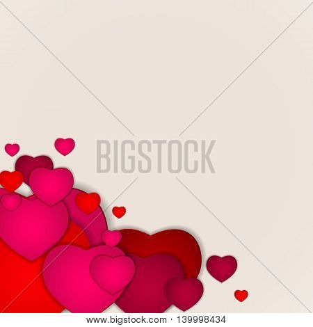 Pink Heart Lovely Background Vector Illustration EPS10