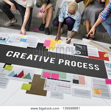 Creative Planning Process Evaluation Ideas Insight Concept