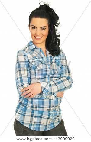 Modern Woman With Arms Folded