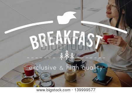 Breakfast Cafe Coffee Chilling Out Concept