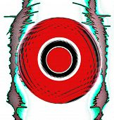 Weird Waveform Abstract poster