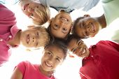 stock photo of children playing  - Group Of Children Playing In Park - JPG