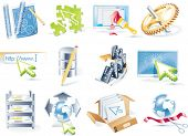 Vector web site development icon set