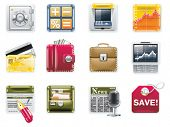 Vector universal square icons. Part 6. Banking (white background)