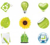 Vector ecology icon set. Part 4